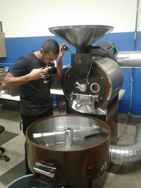 Okon roasting coffee