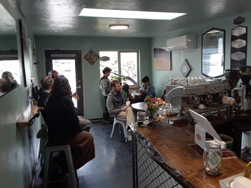 Equiano Coffee shop full of patrons